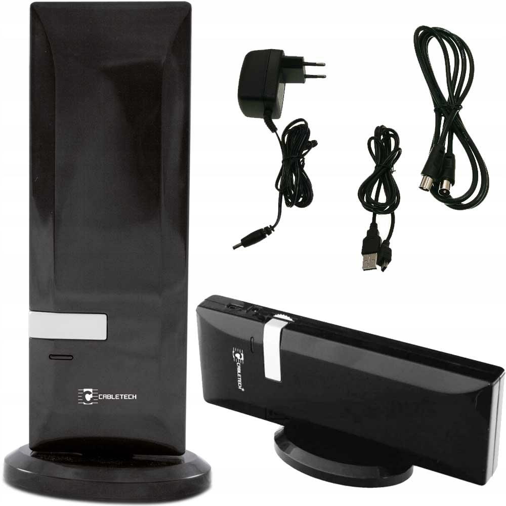 ANTENA DVBT TV POKOJOWA MOBILNA USB 5V 230V WZMACN