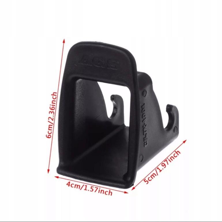 prowadnice do fotelika ISOFIX plastiki tunele