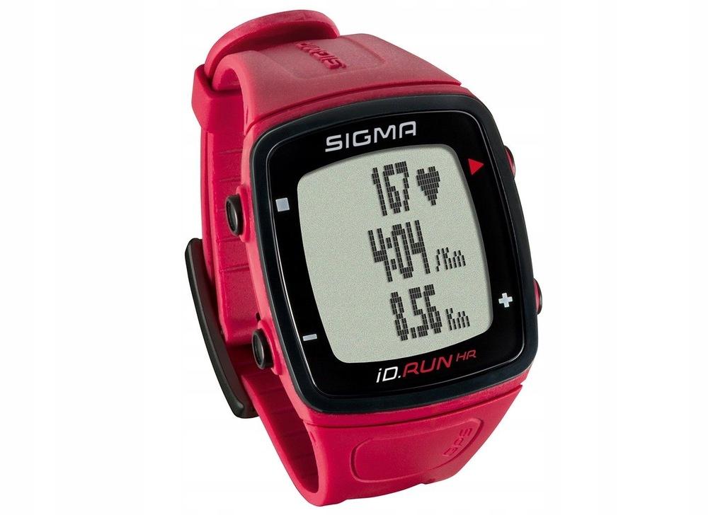 SIGMA iD.RUN HR GPS z pulsometrem czerwony