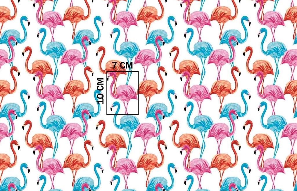 Zasłona gotowa na szelki 160x250 1400E flamingi