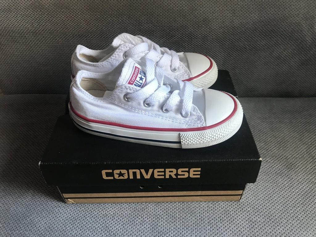 Converse rozmiar 24 białe 15,5cm