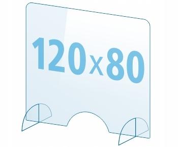 OSŁONA z pleksi ochronna PA szyba 4mm plexi 120x80