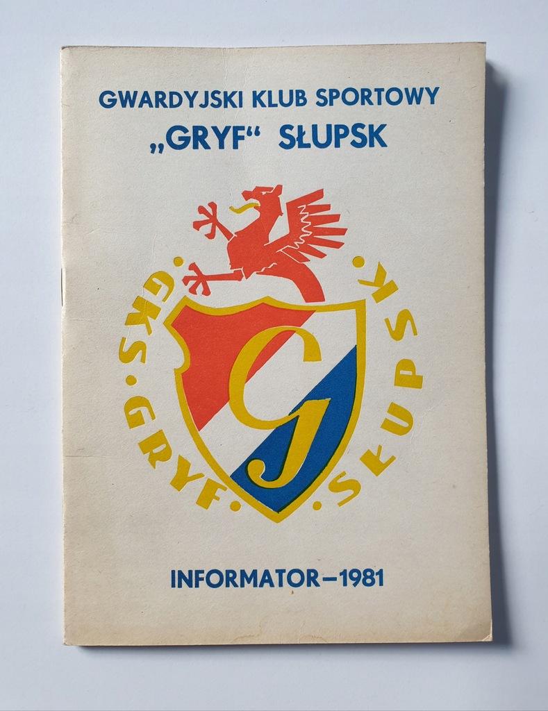 PROGRAM GRYF SŁUPSK SEZON 1981