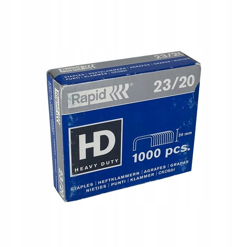 Zszywki biurowe RAPID Heavy Duty 23/20 1000 sztuk