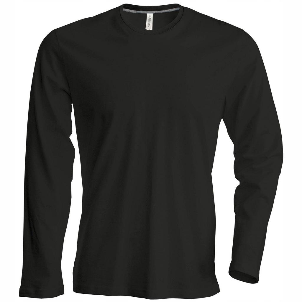Kariban - męska koszulka bluzka długi 2XL Czarny