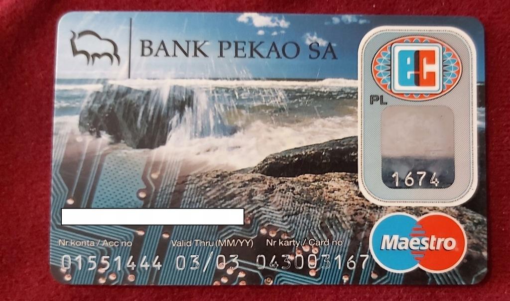 Karta Maestro BANK PEKAO S.A. - 04