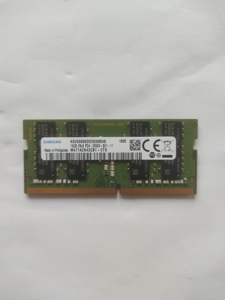 Pamięć ram Samsung 16gb 2Rx8 PC4-2666V-SE1-11