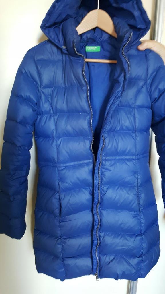 Płaszcz puchowy dla dziewczynki marki Benetton
