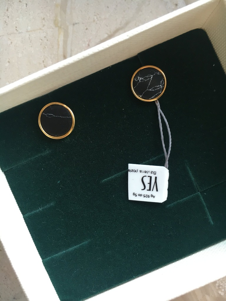 Kolczyki YES Talisman srebro pozłacane