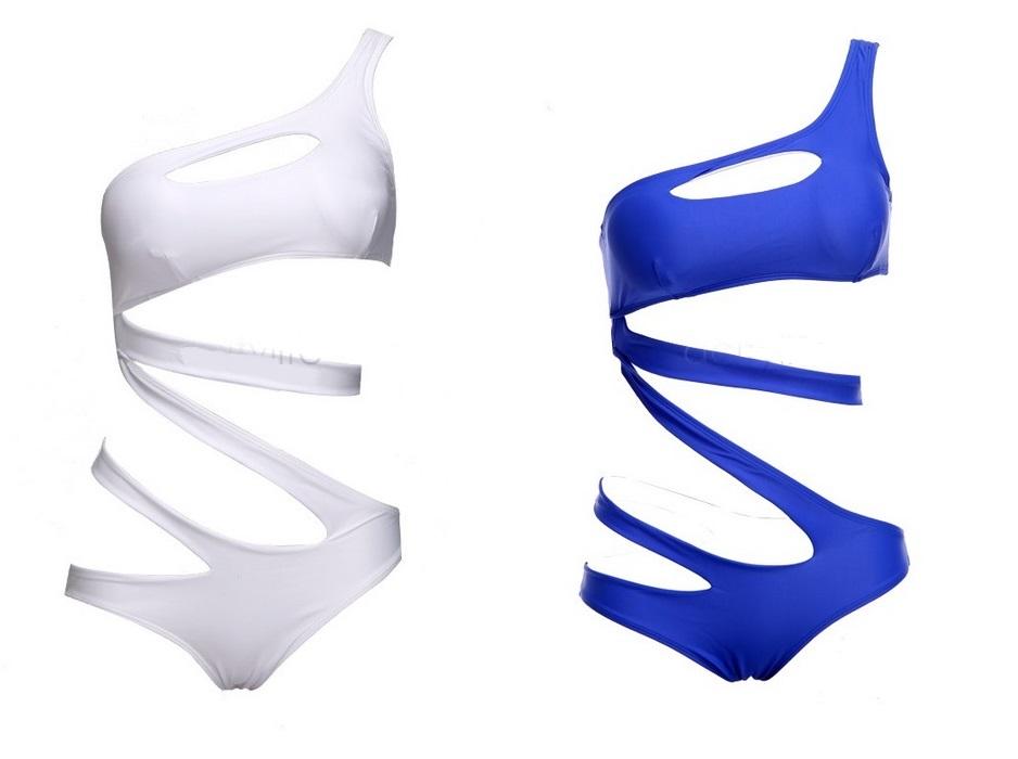 S5 Strój Monokini Z Wycięciami Paski Sexy XS/S PL
