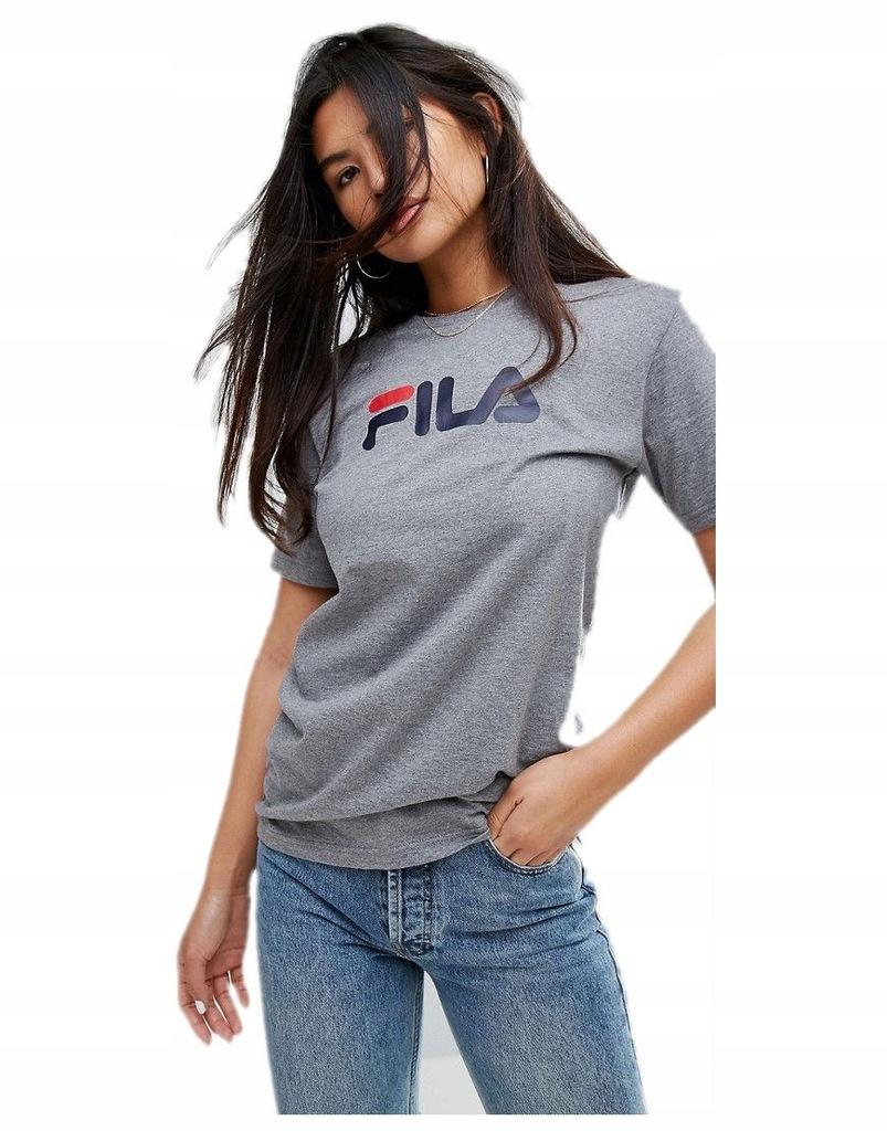 FILA – Krótka bluzka z nadrukiem z logo – Ciemnoniebieski