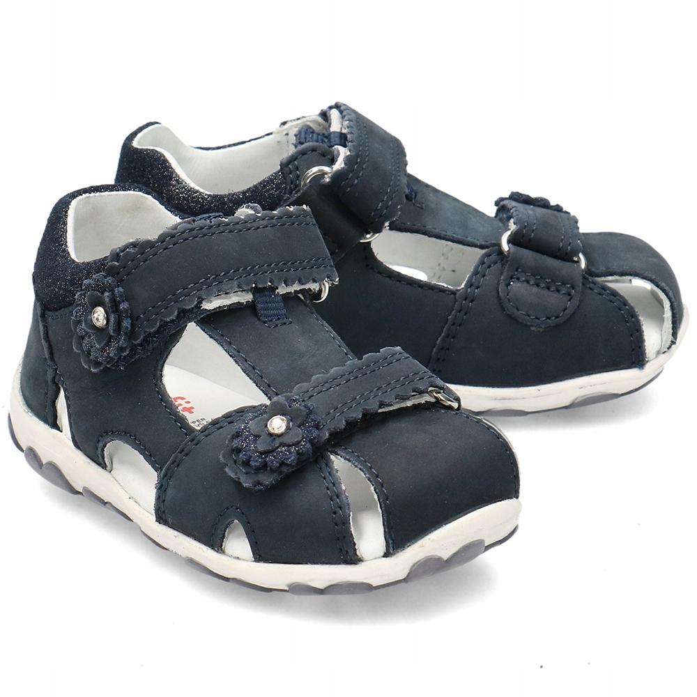 Superfit Granatowe Sandały Dziecięce R.27
