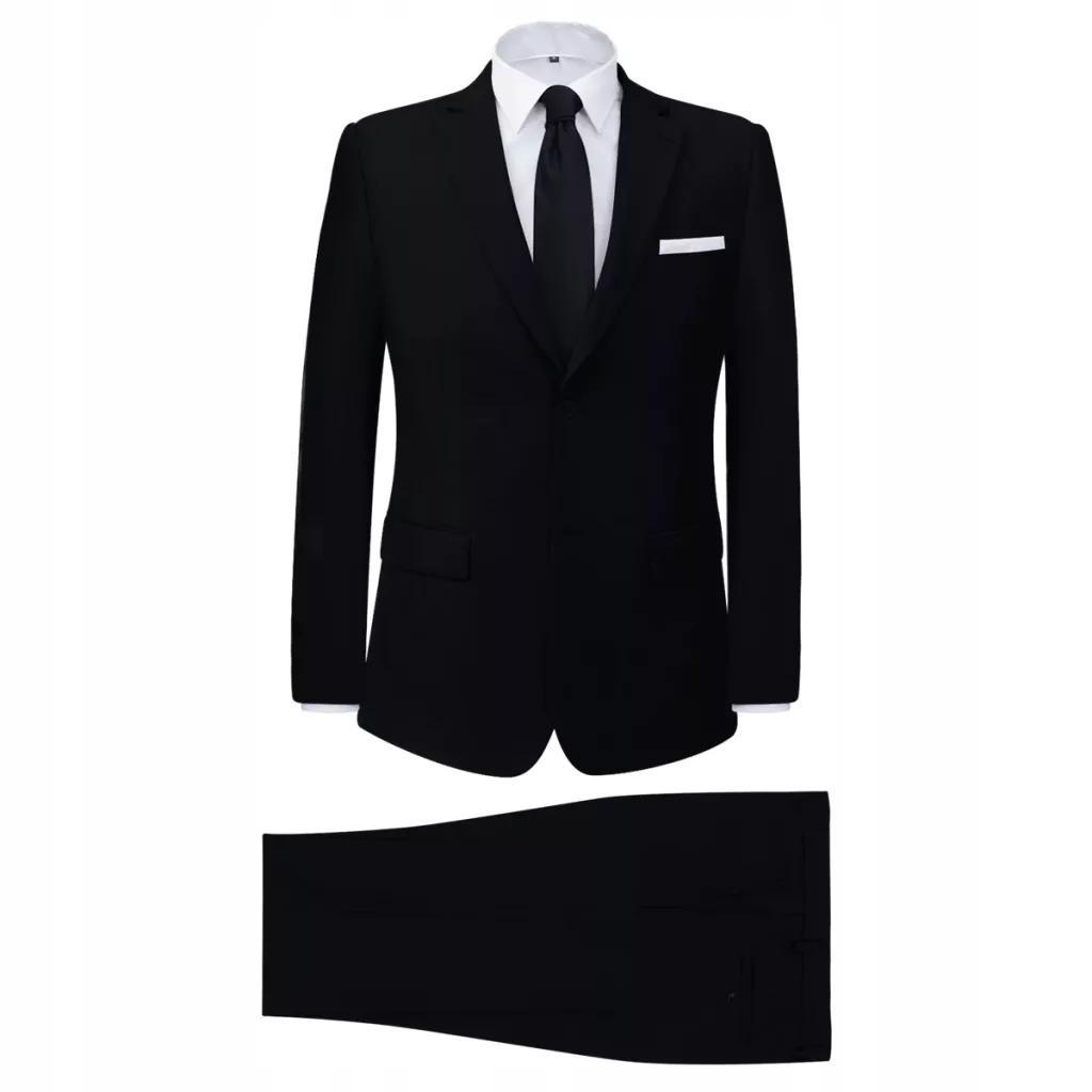 2-częściowy garnitur męski czarny rozmiar 56