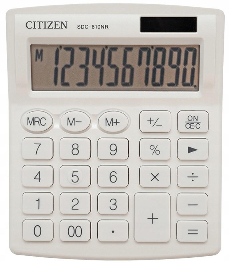 Kalkulator biurowy CITIZEN SDC-810NRWHE biały