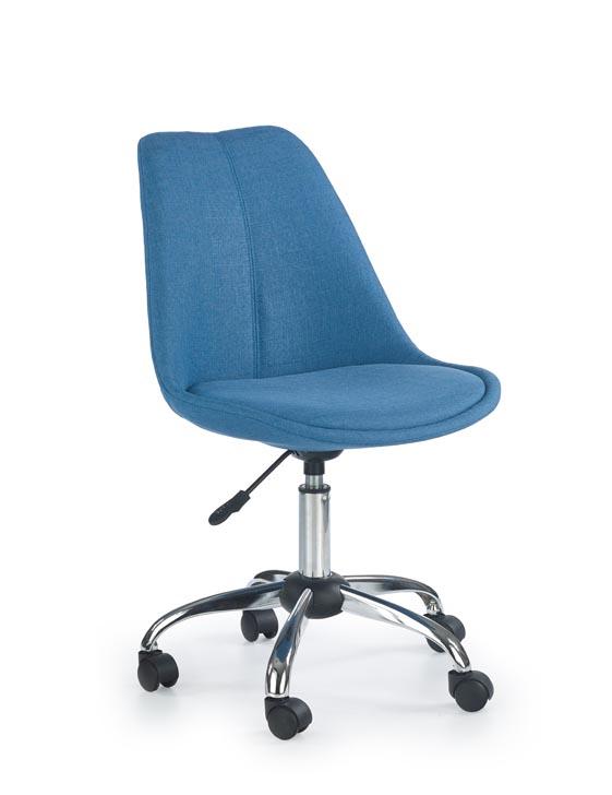 Niebieskie krzesło obrotowe młodzieżowe fotel –