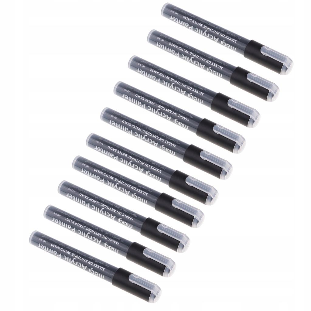 10 sztuk czarnego akrylowego pisaka