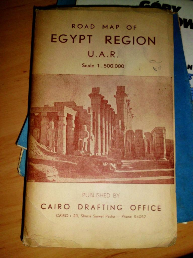 ROAD MAP OF EGYPT REGION 1:500000 1957 Egipt mapa