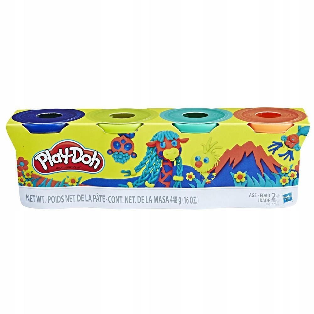 PlayDoh 4pak Wild Colors