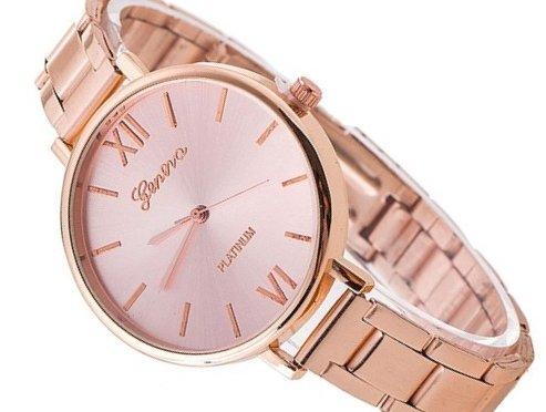 Zegarek blogerek GENEVA złoty bransoletka SLIM