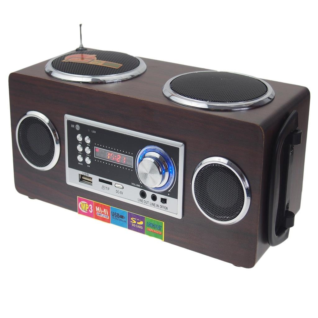 RADIO DO OGRODU Z AKUMULATOREM PENDRIVE AUX
