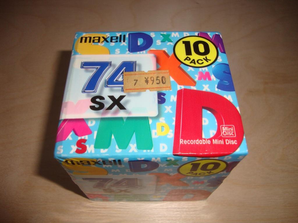 10 x Mini Disc MAXELL 74SX