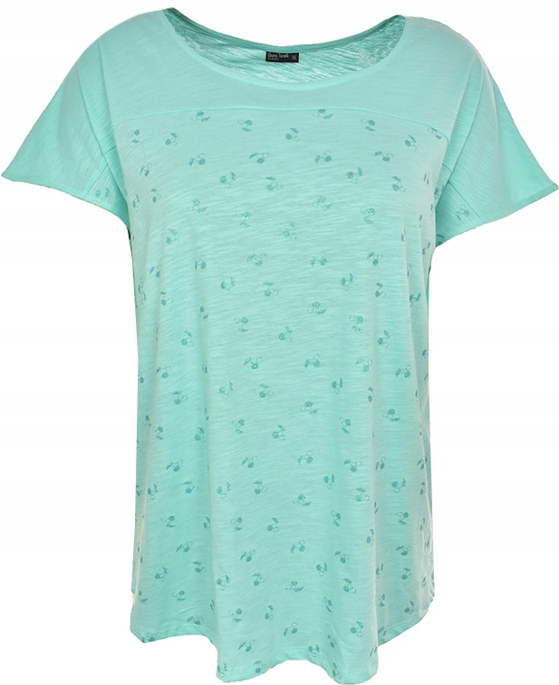 mAG6357 LAURA TORELLI miętowy t-shirt 48