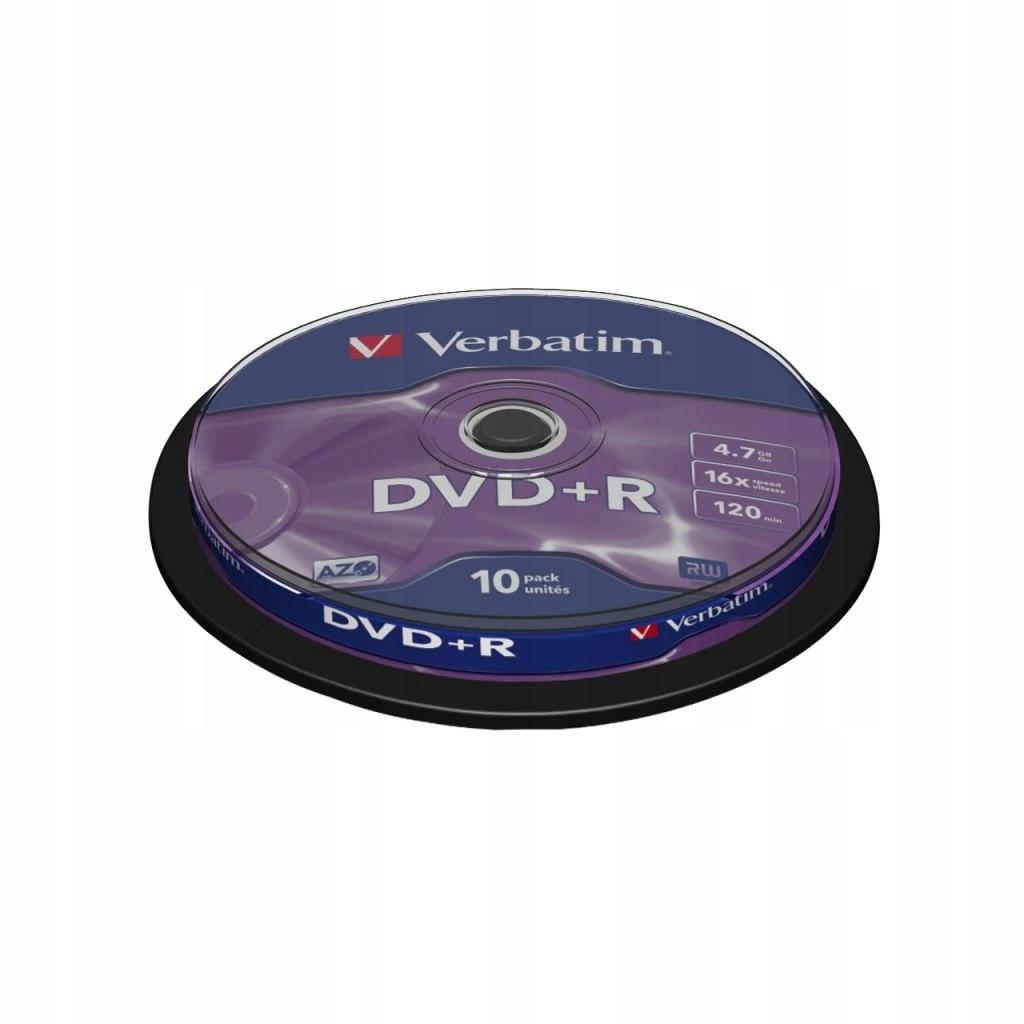 DYSK VERBATIM DVD+R 4.7 GB 16X MATTE SILVER CAKE B