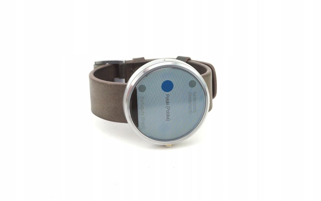 Motorola Moto 360 Stone Grey Leather Smartwatch