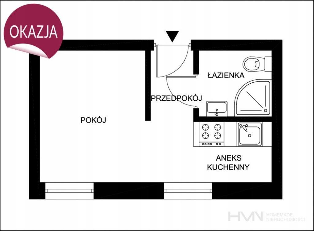 Mieszkanie, Kraków, Bronowice, Bronowice, 18 m²