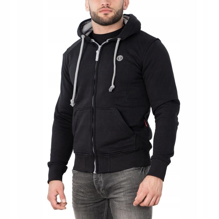 Bluza rozpinana z kapturem Holmgard (M) czarna