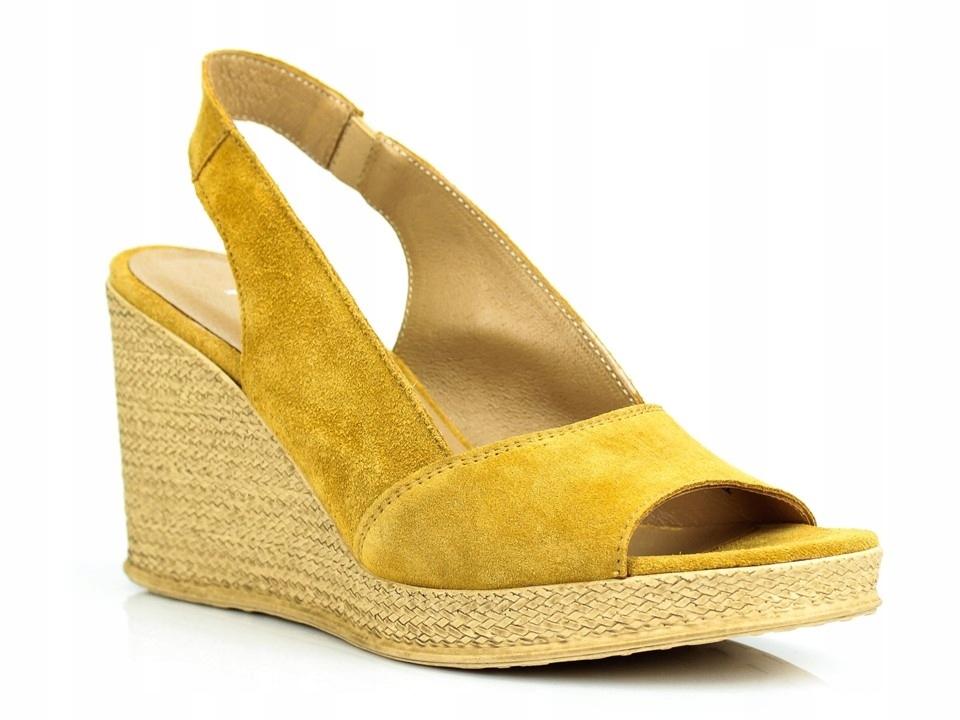 Sandały RYŁKO 7NFM1_X_XR6 żółte r. 37 SELLECTI
