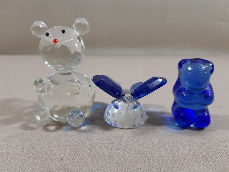 Kolekcjonerskie szklane figurki 3 sztuki