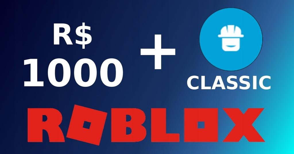 ROBUX ROBLOX 1000 RS + Classic Builders Club