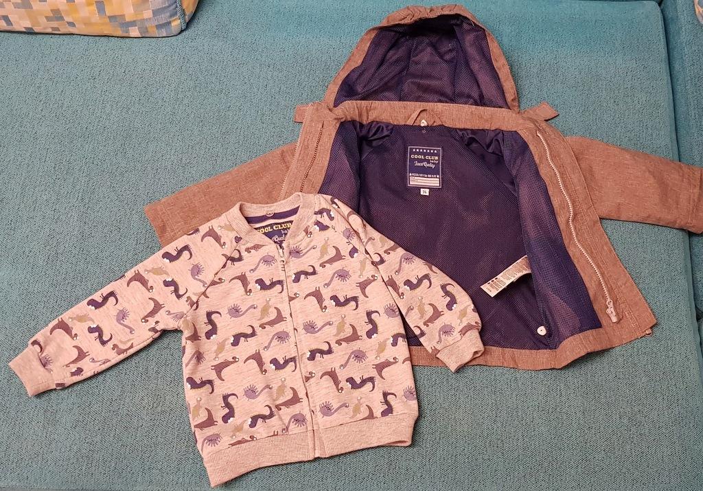 COOL CLUB Kurtka 2w1 z bluzą dla niemowlaka 74