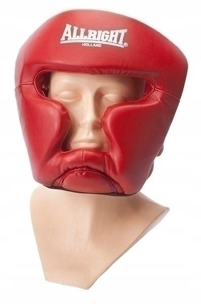 Kask bokserski Allright sparingowy PU senior red
