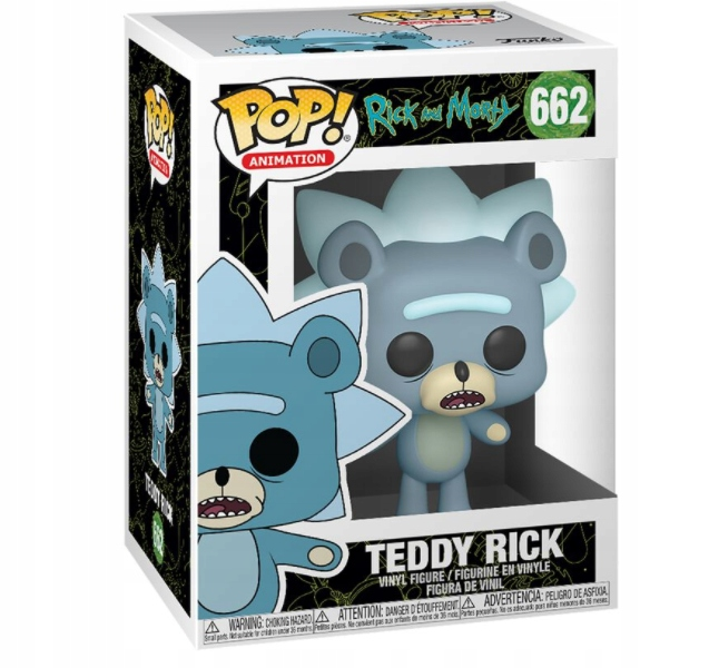 FUNKO POP rick and morty Teddy Rick Chase Possible