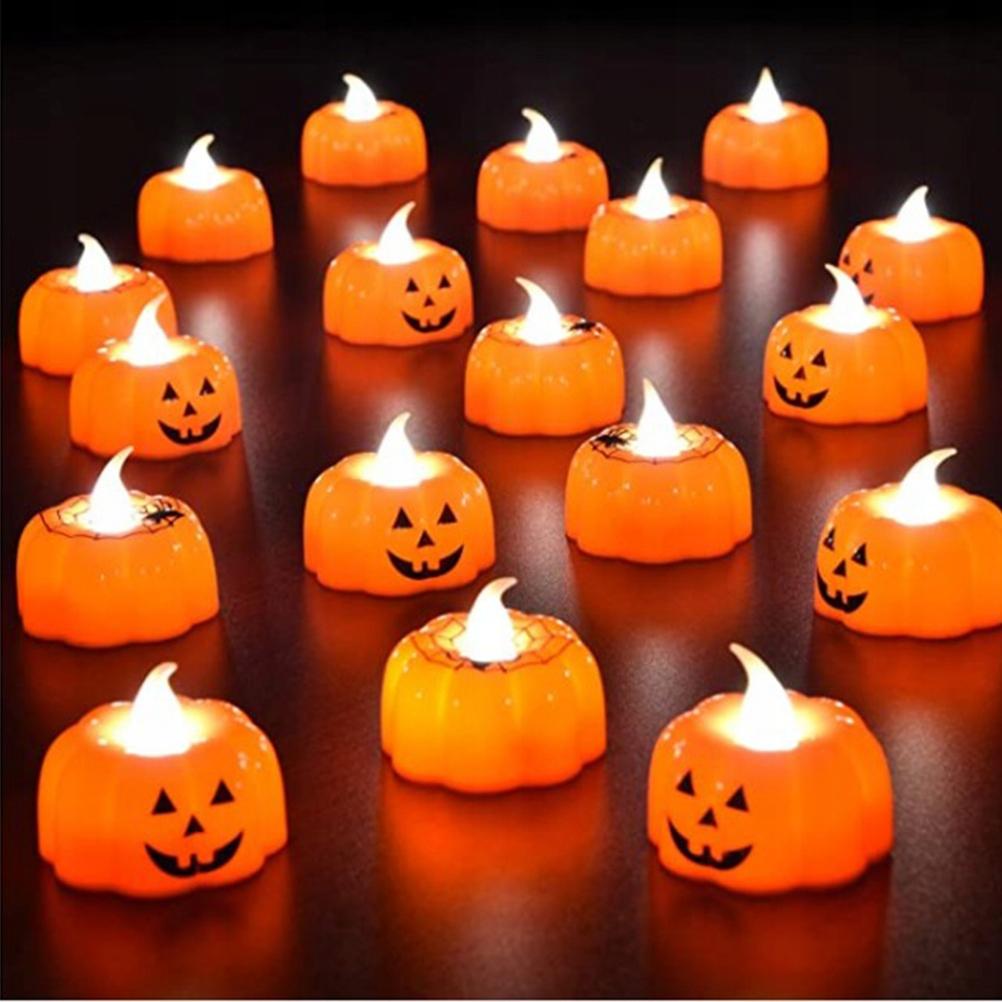 18szt Halloweenowe ozdoby na biurko Dyniowe świece