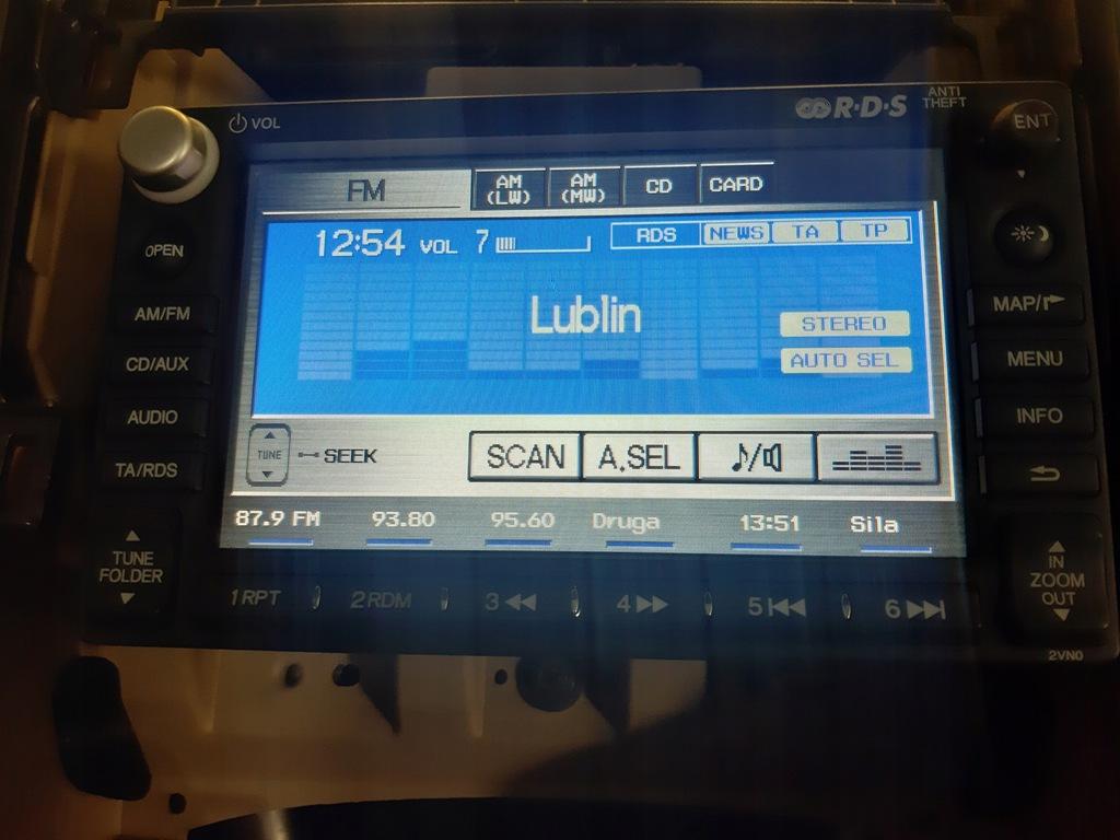 Honda CRV 2007-2012 Nawigacja MP3 WMA
