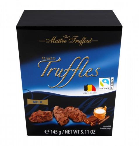 Czekoladki truflowe z płatkami mlecznej czekolady