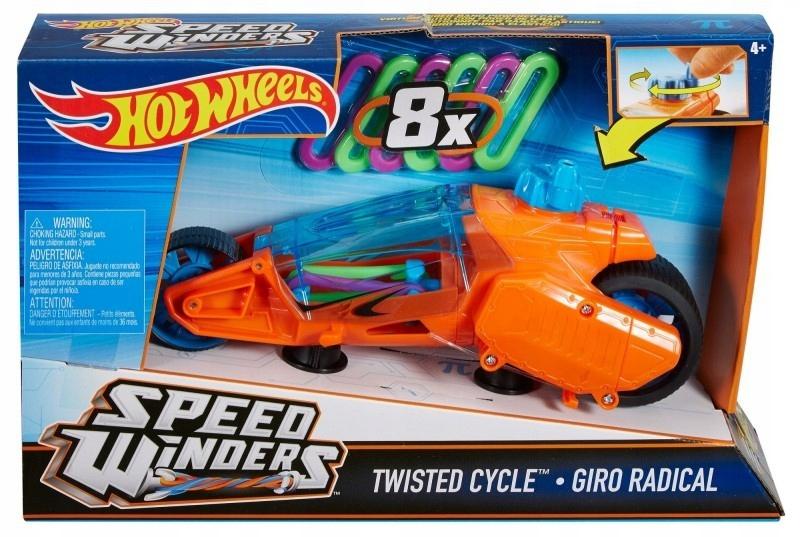 Hot wheels Autonakręciak i motocykle, pomarańczowy