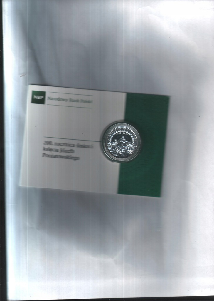 Moneta 10 zł -2013- 200 r ś. ks J Poniatowsk+f.NBP