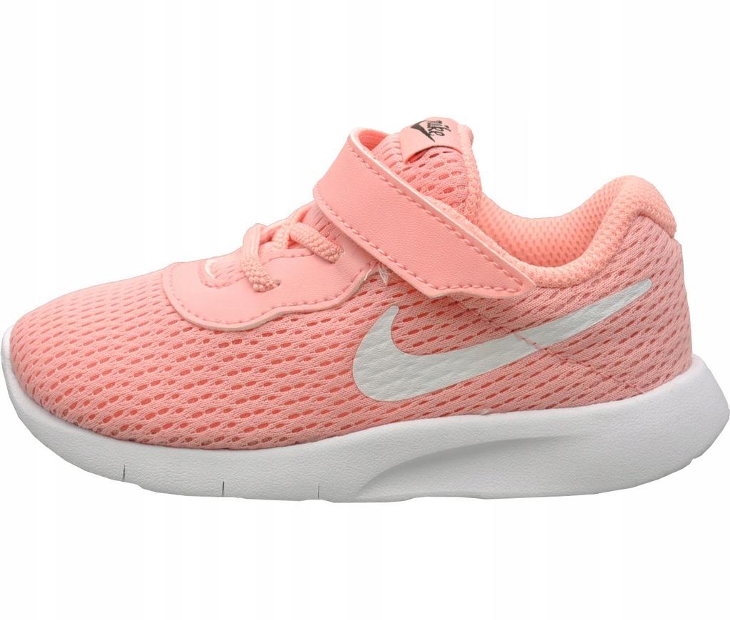 Buty Nike Tanjun TDV dziecięce czarno różowe na rzepę z