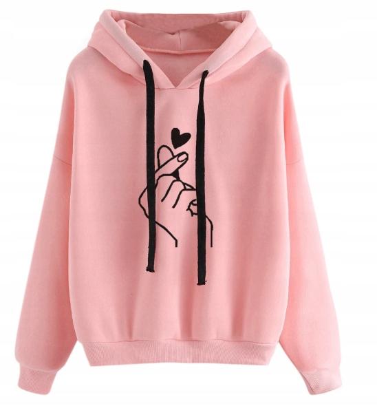 bluza bts różowa