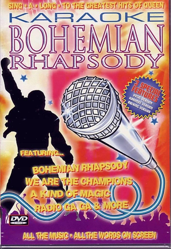 Bohemian Rhapsody The Hits Of Queen (DVD) Karaoke
