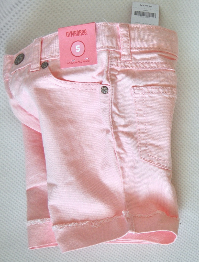 Gymboree BERMUDKI Jeans różowe 6l./114-122
