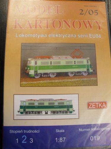 1:87 Lokomotywa serii EU04 ZETKA 019 2/05
