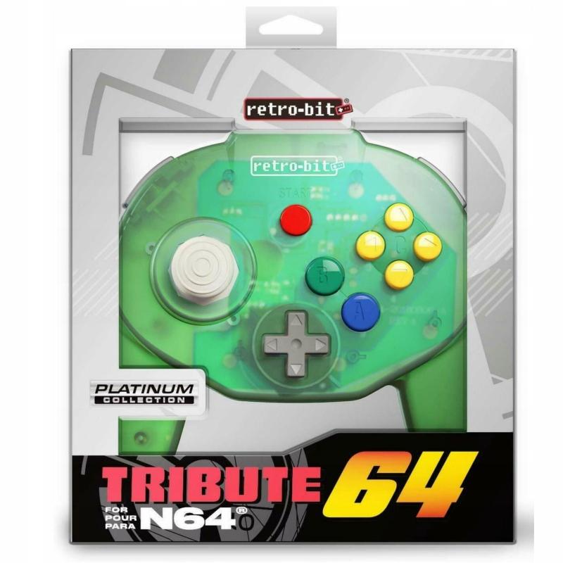 Nintendo 64 Kontroler Pad Tribute 64 zielony