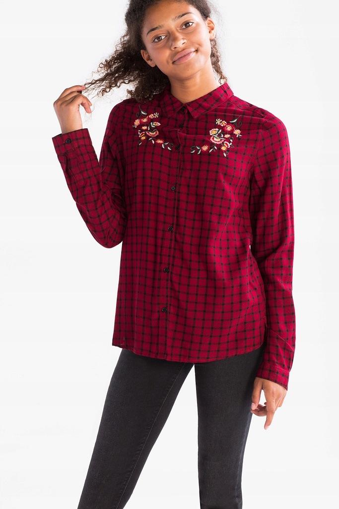 C&A koszula kratka haft 146-152