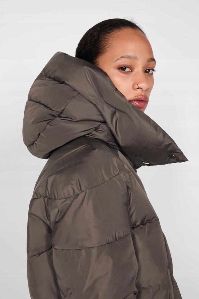płaszcz puchowy zara z szelkamu