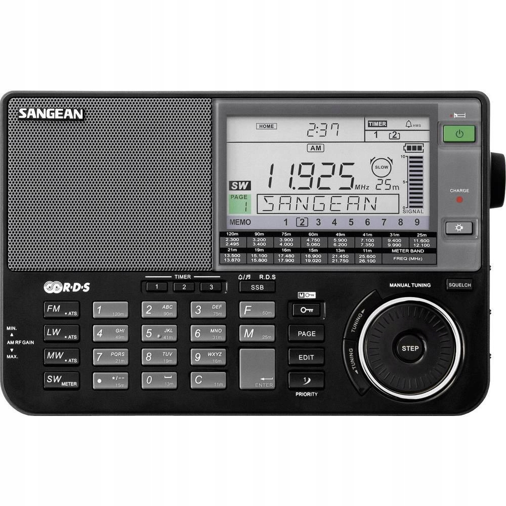 Radio globalne FM Sangean ATS-909 X, czarne